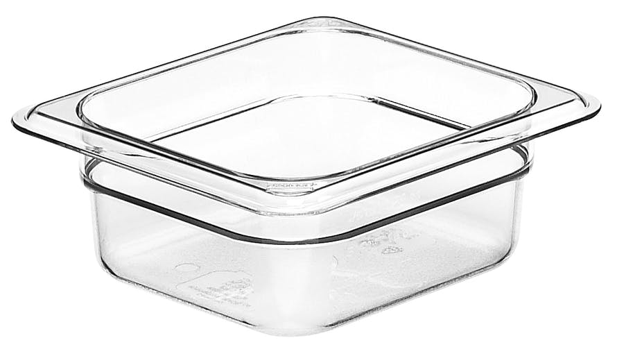 "62CW135 Camwear 2.5"" Sixth Size Clear Food Pan"