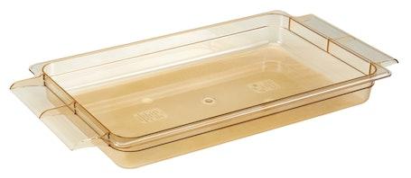 "12HPH150 H-Pan 2.5"" High Heat Food Pan w/ Handles - Amber"