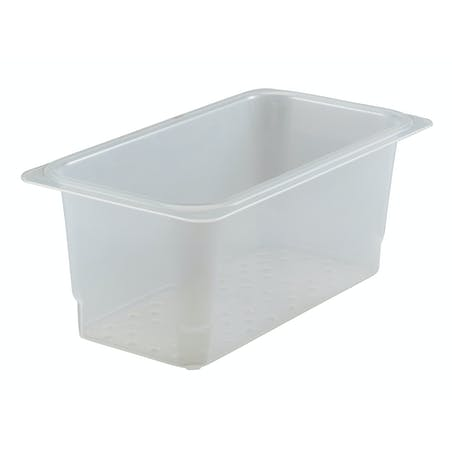 Прозрачные контейнеры с решетчатым дном