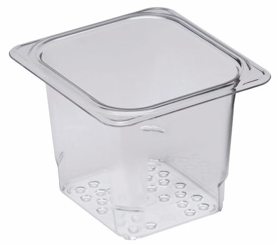 "65CLRCW135 Camwear 5"" Sixth Size Clear Colander Pan"