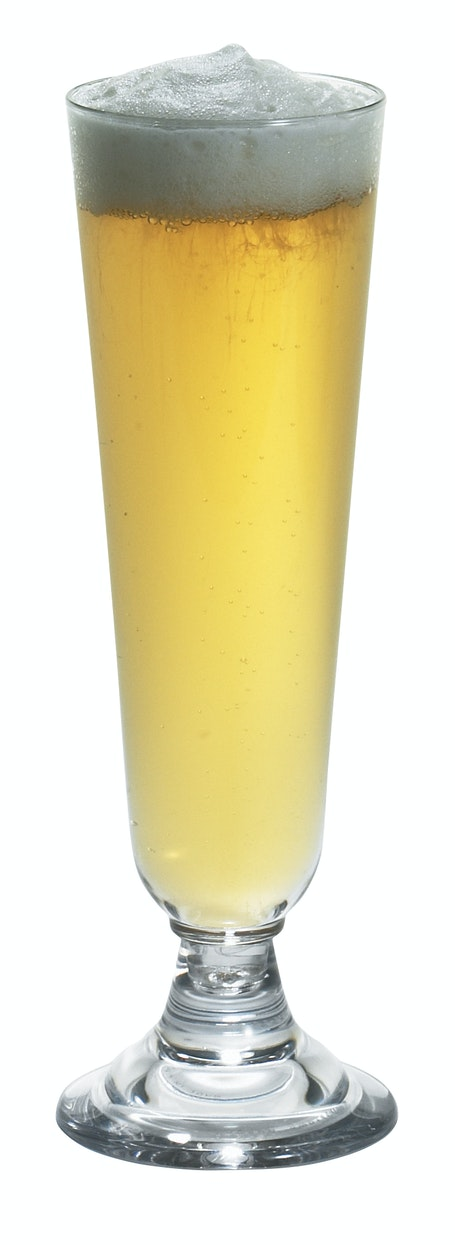 BWP14CW135 Aliso Pilsner Glass w/ Beer