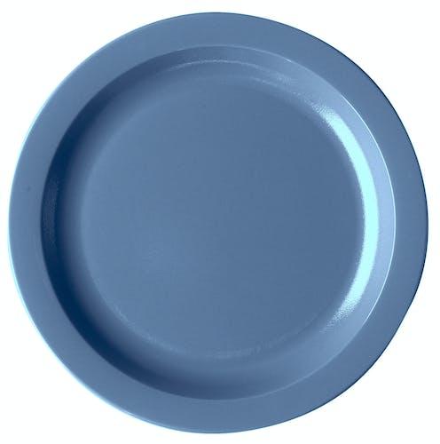 """10CWNR401 Camwear Dinnerware Plate - Slate Blue 10"""" Narrow Rim"""