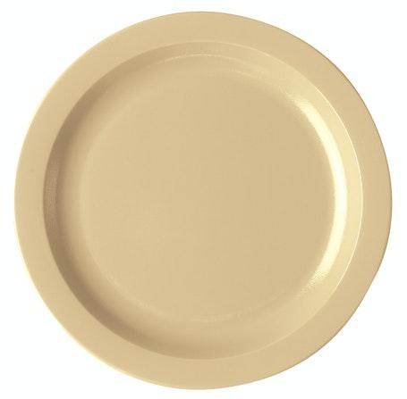 """10CWNR133 Camwear Dinnerware Plate - Beige 10"""" Narrow Rim"""