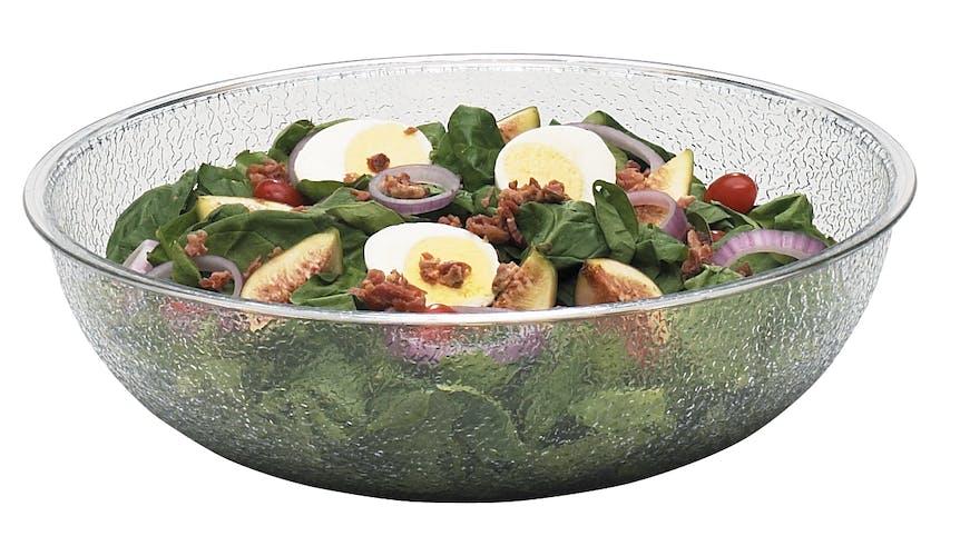 "PSB12176 Camwear 12"" Round Pebbled Bowl w/ Salad"