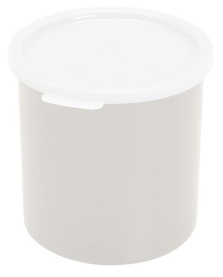 CP12148 White 1.2 QT Crock w/ Lid
