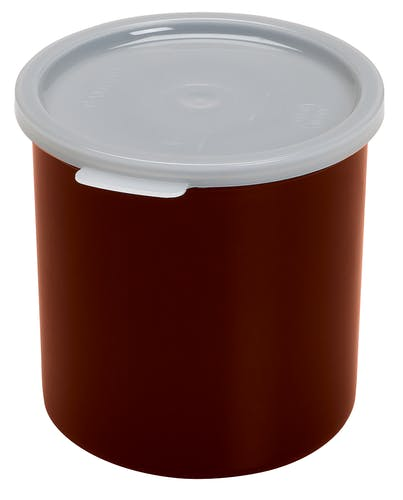 CP12195 Reddish Brown 1.2 QT Crock w/ Lid