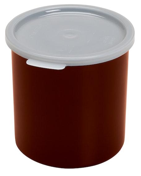 CP12195 Reddish Brown 1.2 QT Crock w/ Lid