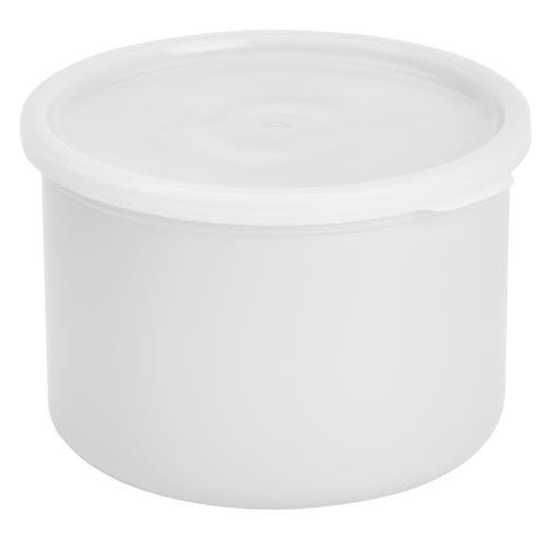 CP15148 White 1.5 QT Crock w/ Lid
