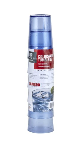 950PSW401 6-Pack Slate Blue Colorware 9.8 oz Tumblers