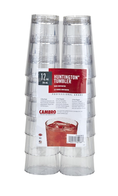 HT120CW12SW135 12-Pack Clear 12 oz Huntington Tumblers