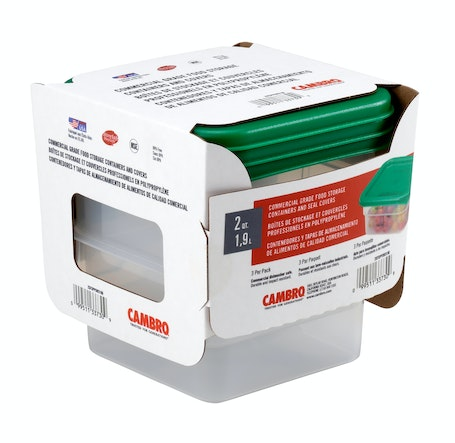 2SFSPPSW3190 3-Pack 2 QT Translucent Camsquare Containers & Covers