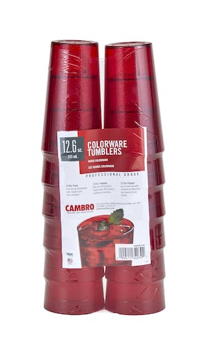 1200PSW12156 12-Pack Ruby Red Colorware 12.6 oz Tumblers
