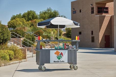 CVC724191 Granite Gray Camcruiser Vending Cart w/ Rock Cafe Logo