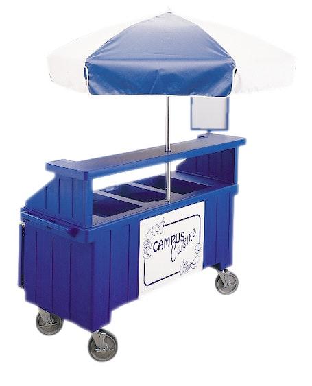 CVC72186 Navy Blue Camcruiser Vending Cart w/ Umbrella