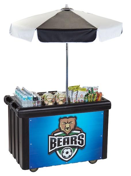 CVC55110 Black Camcruiser Vending Cart w/ Bears Logo