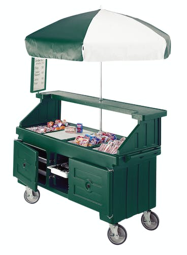 CVC724519 Kentucky Green Camcruiser Vending Cart - Back