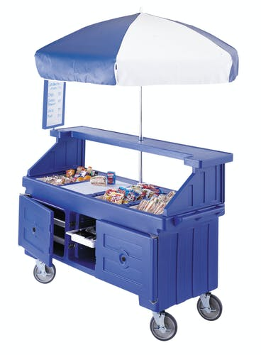 CVC724186 Navy Blue Camcruiser Vending Cart w/ Snacks