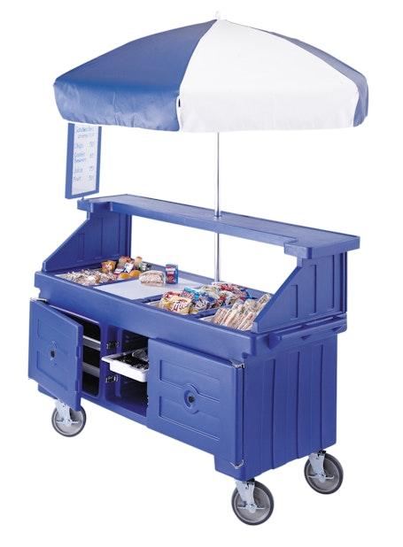 CVC724186 Navy Blue Camcruiser Vending Cart w/ Snacks