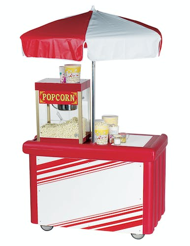 CVC55158 Hot Red Camcruiser Vending Cart w/ Popcorn