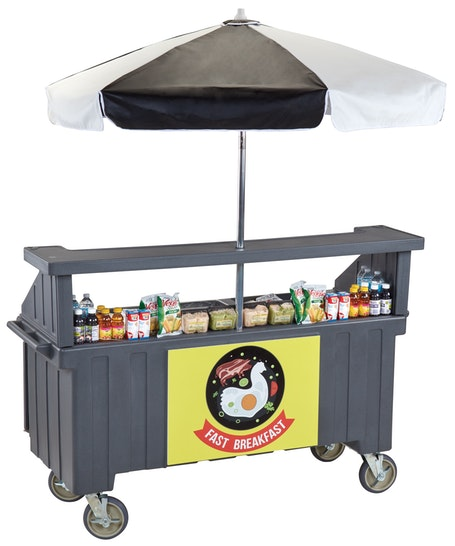 CVC724191 Granite Gray Camcruiser Vending Cart - Tilted