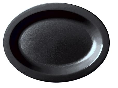 120CWP110 Camwear Dinnerware Black Oval Platter