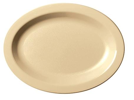 120CWP133 Camwear Dinnerware Beige Oval Platter