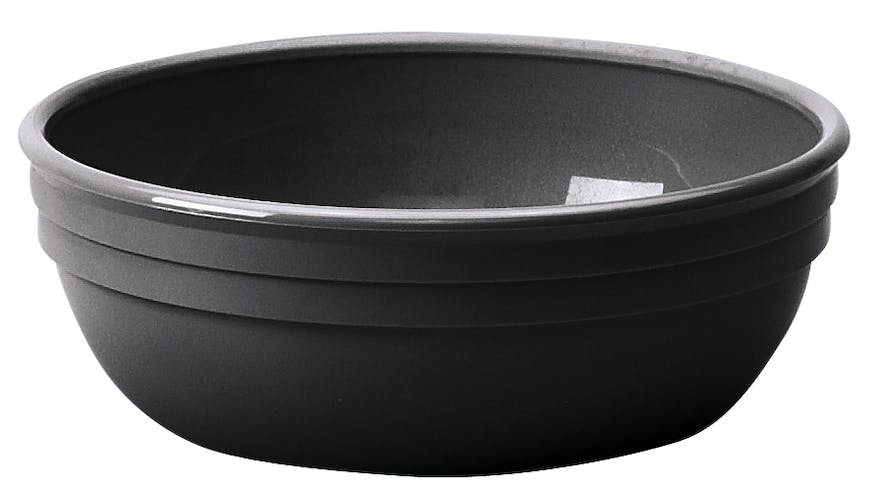 100CW110 Camwear Dinnerware Bowl - Black 12.5 oz Round