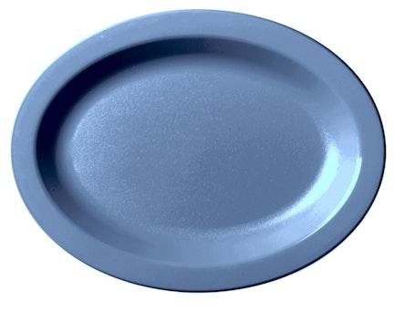 120CWP401 Camwear Dinnerware Slate Blue Oval Platter