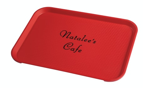 1216FFPER100 Natalee's Cafe Fast Food Tray - Personalized