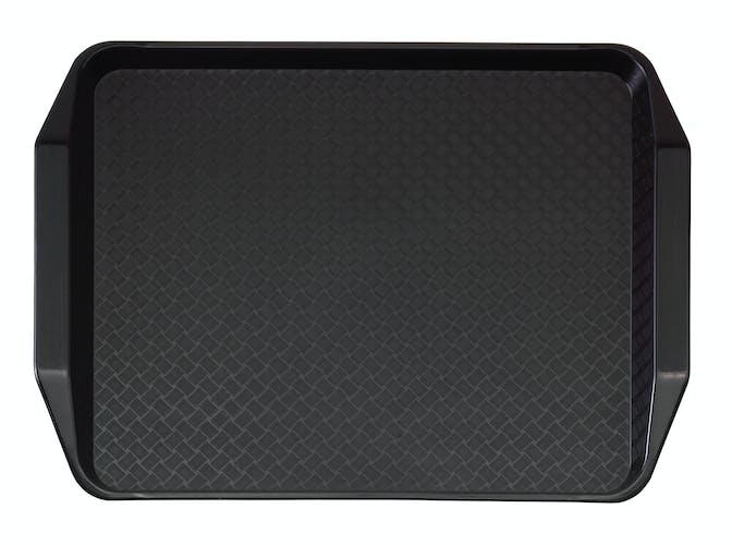 1217FFH110 Black Fast Food Tray w Handles
