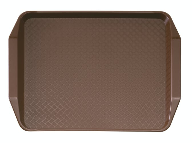 1217FFH167 Brown Fast Food Tray w Handles