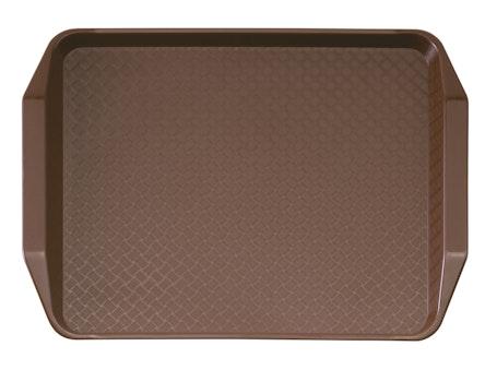 1217FFH167 Brown Fast Food Tray w Handles