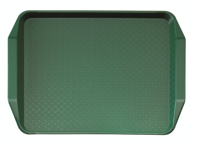 1217FFH119 Sherwood Green Fast Food Tray w Handles