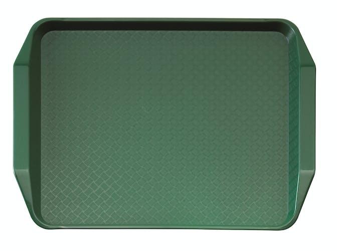 1217FFH119 Sherwood Green Fast Food Tray w Handles