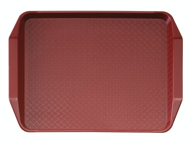 1217FFH416 Cranberry Fast Food Tray w Handles