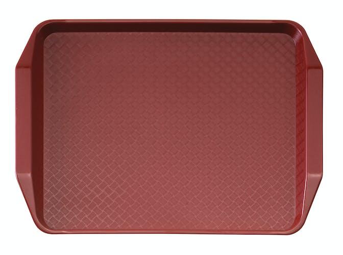 1217FFH416 Cranberry Fast Food Tray w Handles