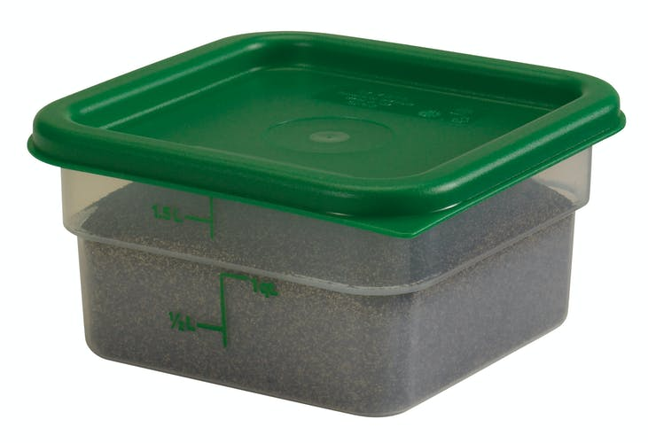 2SFSPP190 2 QT Translucent Storage Container w Lid & Food