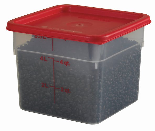 6SFSPP190 6 QT Translucent Storage Container w/ SFC6451 & Food