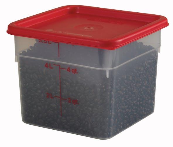 6SFSPP190 6 QT Translucent Storage Container w/ SFC6451 & Food