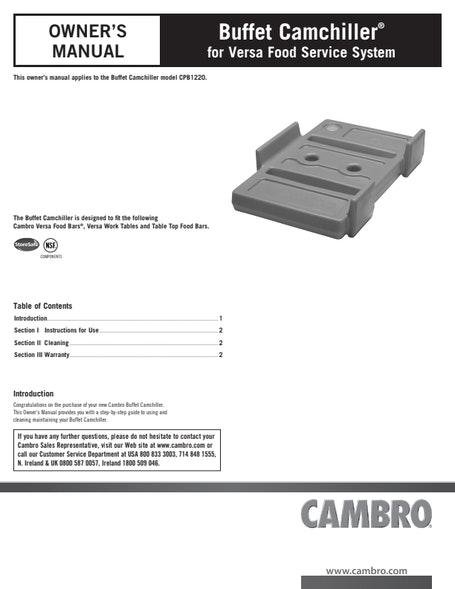 Buffet Camchiller User Manual