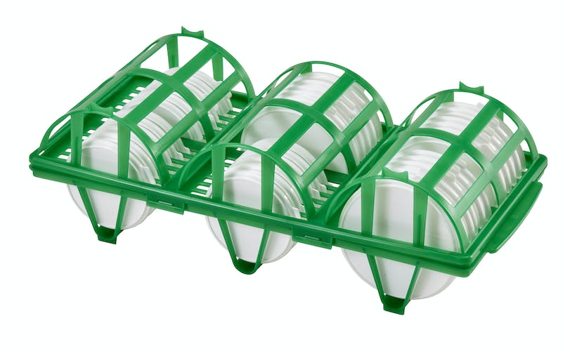 CLRWSR36452 Camrack® Wash and Store Rack for Reusable Lids Kelly Green