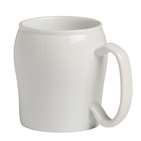 Klassische weiße Keramikwaren-Becher