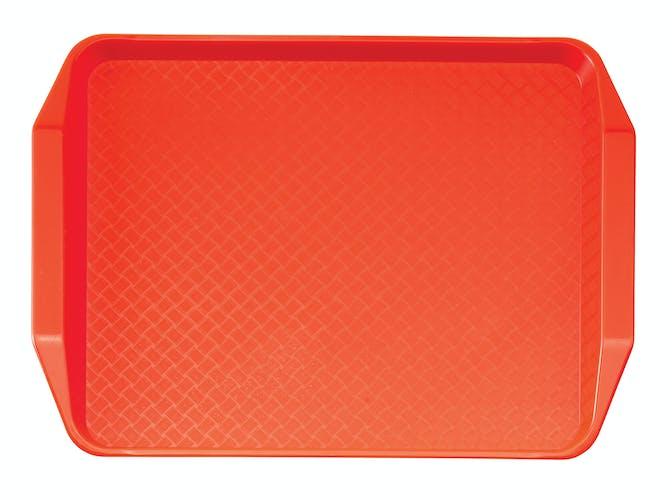 1217FFH166 Orange Fast Food Tray w Handles