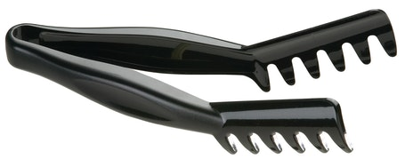 "TGA8110 Lugano Black Angled 8.25"" Tongs"