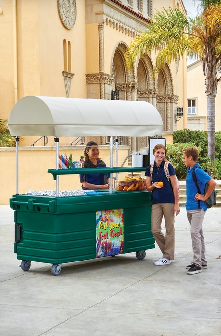 KVC856C519 Kentucky Green CamKiosk Vending Cart w/ Students