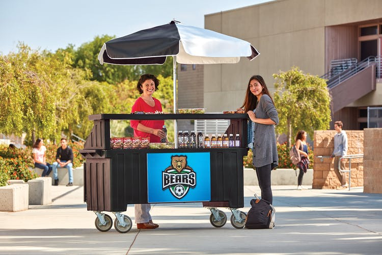 CVC72110 Black Camcruiser Vending Cart w/ Customer