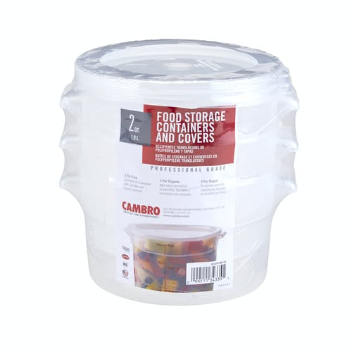 RFS2PPSW3190 3-PK 2 QT Translucent Round Containers w Lids