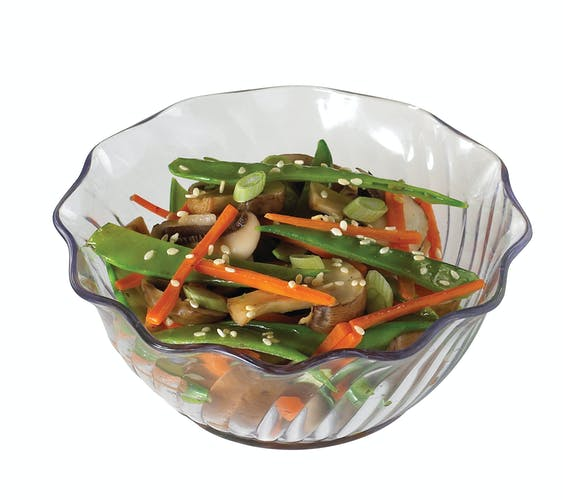 SRB13CW135 Camwear Clear 13 oz Swirl Bowl w/ Veggies