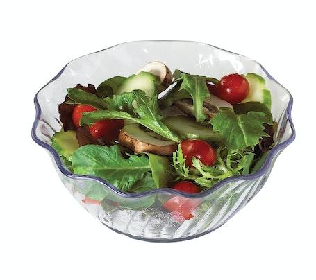 SRB13152 SAN Clear 13 oz Swirl Bowl w/ Salad