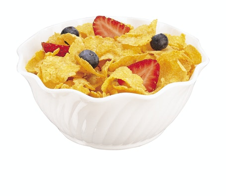 SRB13148 SAN White 13 oz Swirl Bowl w/ Cereal
